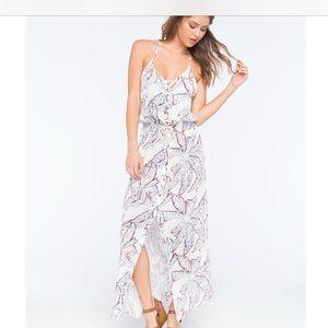 Roxy junior casino point maxi dress, S, palm print